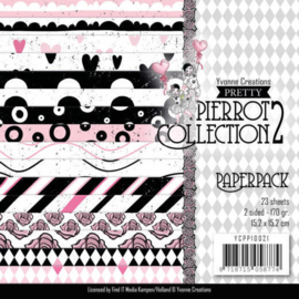 paperpack pierrot vierkant achtergrondblok YCPP10021  NIEUW!!!!!