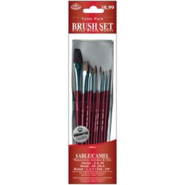 Royal & Langnickel sable/camel penselen set RSET-9153 set van 5 penselen