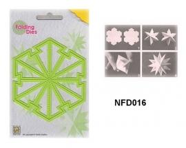 """NFD016 Nellie's Folding Die Kerstbal """"grote ster"""" nfd016"""