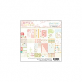 """Webster's Pages Paper Pad 6""""X6"""" 24/Pkg growing up girl pp21"""
