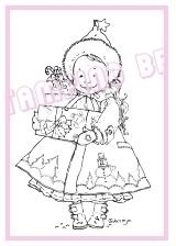 Stamping Bella Unmounted Rubber Stamp Noelle Bearing Gifts  AKTIE!!!!!!