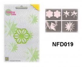 "NFD019 Nellie's Folding Die Kerstbal ""mini ster"""