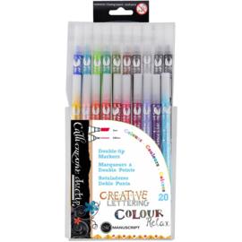 Manuscript Callicreative Duo Tip Pens 20/Pkg  MM7003