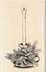 Inkadinkado Wood Mounted Rubber Stamp candle 60-00333