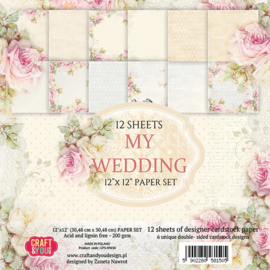 """paper set 12""""x 12"""" 12 vel double- sided designs CPS-MW30"""