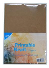 PRINTABLE kraft paper 29.7 x21 cm  175gram 25 vel 8089/0209