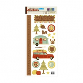 Embossible Design Stickers  Camping 19 stickers 41244-1 34,5x15cm