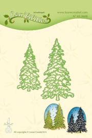 christmas trees snij en embossing mal 45.3608
