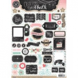 Creative with chalk die-cut embellishments - EASYCH464