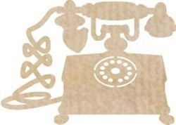 Wood Flourishes Telephone
