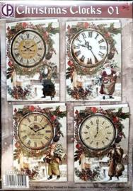 Christmas Clocks 01 RE2530-0103 NIEUW!!!!!!