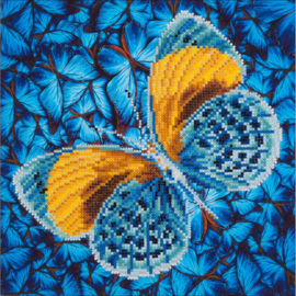 "Diamond Dotz Diamond Embroidery Facet Art Kit 15""X15"" Flutter By Gold DD5.016"