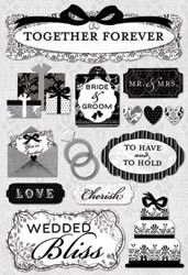 "Wedding Cardstock Stickers 5.5""X9"
