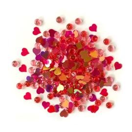 Buttons Galore Shimmerz Embellishments 18g Heartfelt