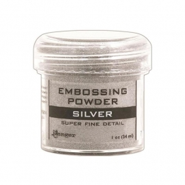 embossing powder zilver
