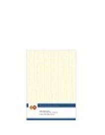 Card Deco linnen papier 14,8x21cm creme LKK-A502 10 vel