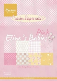 FEB Pretty Papers bloc Eline's babies pink PB7050