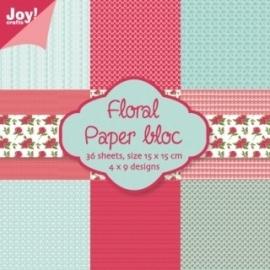 6011/0013 Papier bloc flower nr 1