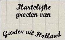 juli  MD - Clearstamps - Groeten uit Holland  CS0898