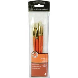 Royal & Langnickel bristle penselen set RSET-9118 set van 4 penselen voor acryl en olieverf