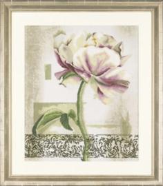 lanarte flowers % gardens borduurpakket Floral blush-profile 50x60cm 34880