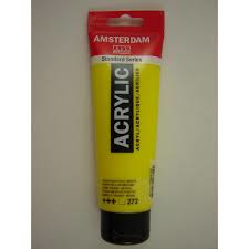 Amsterdam acrylverf tube 120ml Transparantgeel  middel 272