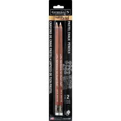 General Pencil MultiPastel ® Chalk Pencils 2/Pkg white 4414-2BP