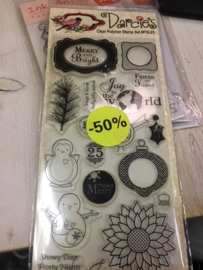 Darcie's clear stamp Winter Pin Pals10x20cm 18 stempels POL63 AKTIE!!!!!!