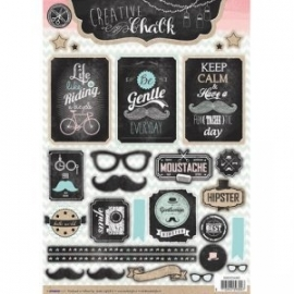 Creative with chalk die-cut embellishments - EASYCH460