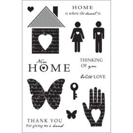 Woodware Clear Stamps Heart and home  FRCL211  AKTIE!!!!