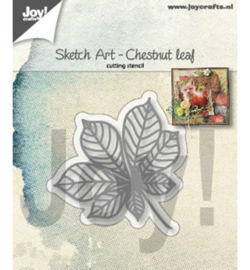 Sketch Art- chestnut leaf - mal - 6002/1354