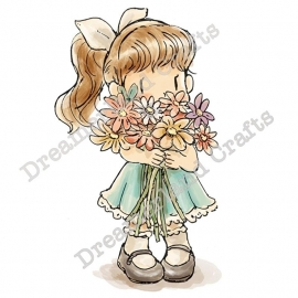 "DreamerlandCrafts Cling Stamp 4""X7"" you'r blooming great"
