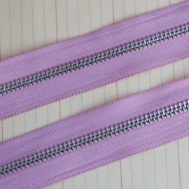 Zipper Trim lilac pink  1 Meter ritsband  [002986/1702]