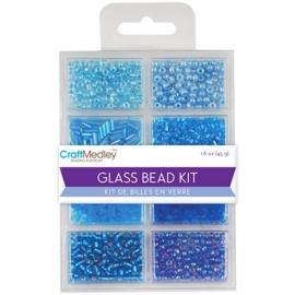 Craft medley Glass bead kit 45 gram  BD705B The Blues