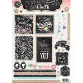 Creative with chalk die-cut embellishments - EASYCH462