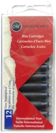 kalligrafie vullingen blauw  MC0461BE 12 stuks