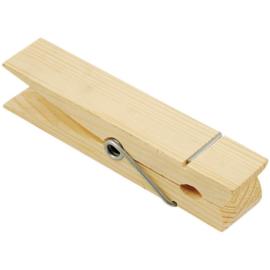 Wood Jumbo Clothespin waknijper hout ca. 3,2 x 15cm