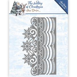 Card Deco - Amy Design - Die - The feeling of Christmas - Ice chyristal border ADD10111
