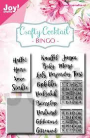 Crafty Cocktail -Bingo_ stencil en clear stempel 6004/0039