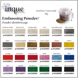 Embossingpowde rood tinsel inq28856