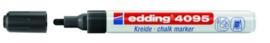 edding 4095 krijtstift zwart  2-3 mm 394095/0001