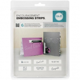 "We R Phrase Strips Embossing Folders 6""X2"" 6/Pkg Encouragement WR662598"