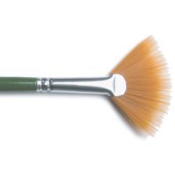 Gold Nylon Fan Brush 4 1196