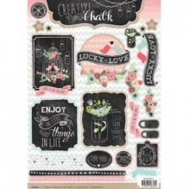 Creative with chalk die-cut embellishments - EASYCH461