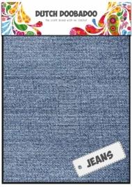 Dutch Doobadoo Jeans blauw - light sheets (2 vel) A5 185990/3009