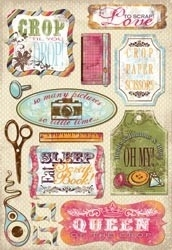 "Scrapbooking Cardstock Stickers 5.5""X9"