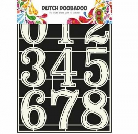 DDBD Dutch Stencil Art A4 Numbers 2 Artikelnummer: Dutch_DBD_470-715-805