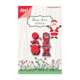 Joy!Crafts snijstencil mon ami kerstman  Artikelnummer: 6002-0936