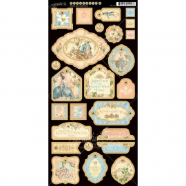 """Gilded Lily Chipboard Die-Cuts 6""""X12"""" Sheet Decorative g4501138"""