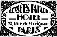 Tim Holtz wood mounted Paris Hotel J2-1688